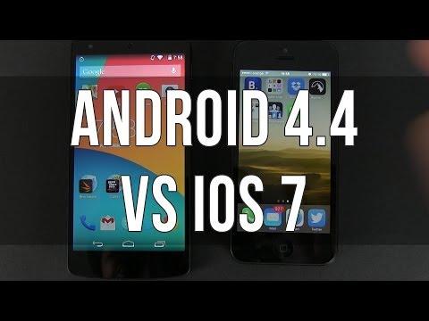 Android 4.4 KitKat Vs IOS 7 Comparison