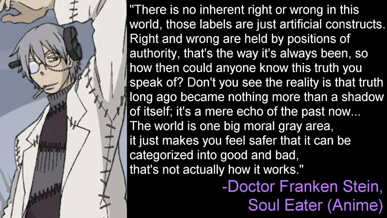 No Inherent Right or Wrong - Doctor Franken Stein, Soul ...