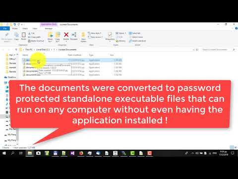 How to password protect documents and convert them to a standalone editable executable file