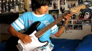 12 year old - boogie on his first e guitar
