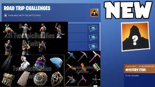 NEW ROAD TRIP Challenge In Fortnite Season 5! (LEAKED Skins, Emotes, Gliders, Pickaxes & More)