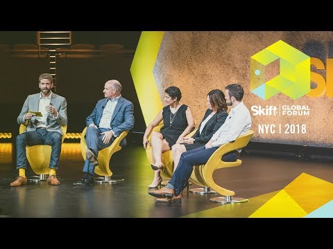 Amadeus, United Airlines, Etihad, and Seabury Consulting at Skift Global Forum 2018