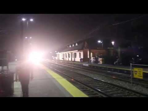 High Speed Illinois Central Passenger Train led by E Units