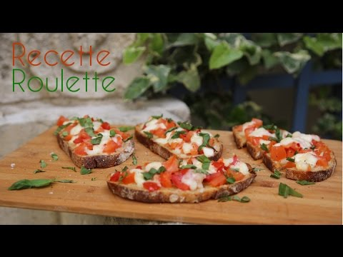 Bruschetta tomates et mozzarella !