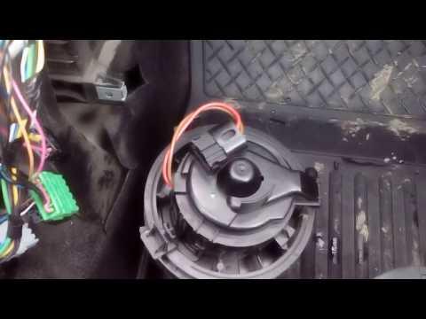 ларгус, снятие вентилятора печки
