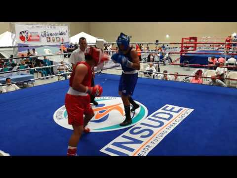 Emilio Valle (BCS) Vs Benjamín Solis (BCN) Final Regional de boxeo 2017 La Paz BCS