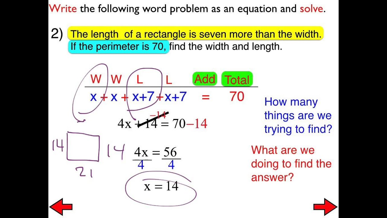 23a Word Problems Involving Multi Step Equations Day 3