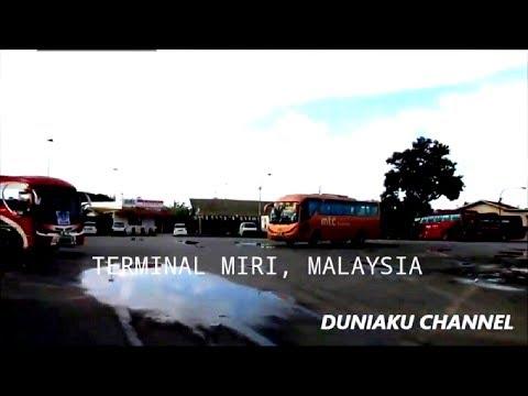 BACKPACKER BRUNEI    BACKPACKER MALAYSIA    TERMINAL BUS MIRI, MALAYSIA. BUS STATiON MIRI MALAYSIA