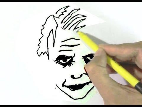 How To Draw The Joker Batman In Easy Steps For Children Kids Beginners