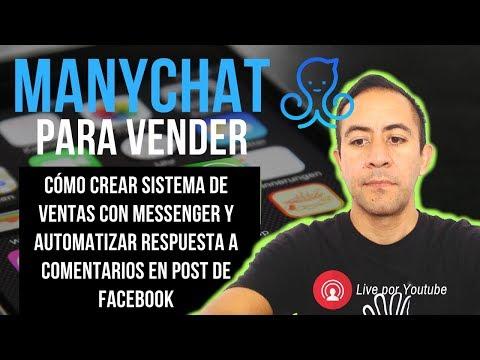 🤖 Cómo Configurar Vendedor Automático En Facebook® Entrenamiento Manychat Con Sistema De Ventas