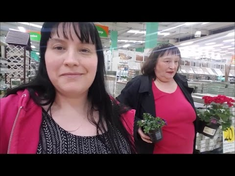 Come shopping with me and my Mum to HomeBase / Sainsburys  & Tour of our Garden! #Vlogger