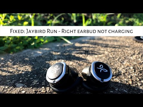 FIxed: Jaybird Run - Right earbud not charging