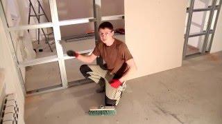 видео Технология монтажа перегородок из гипсокартона