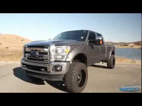 2017 F250 Lifted >> Lifted Ford F250 on Fuel Wheels by California Wheels - YouTube