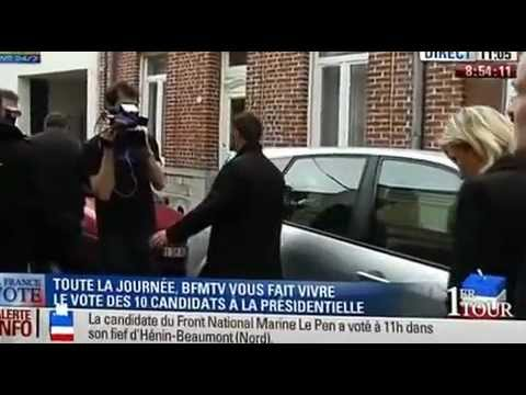 Vote de Marine Le Pen à Hénin Beaumont