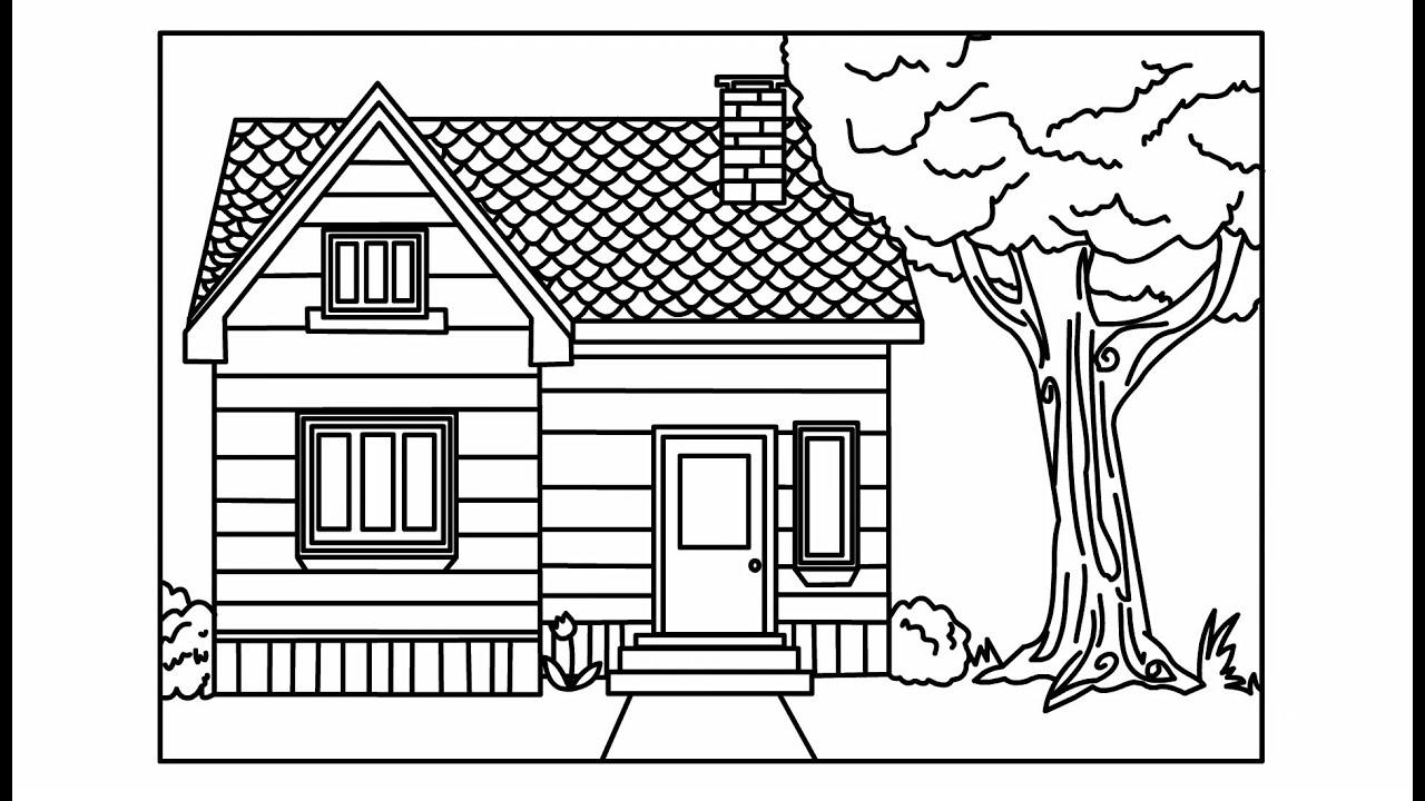 Vẽ Ngôi Nhà Đơn Giản – Tranh Tô Màu Ngôi Nhà Đẹp Nhất – House Drawing And Coloring For Kids