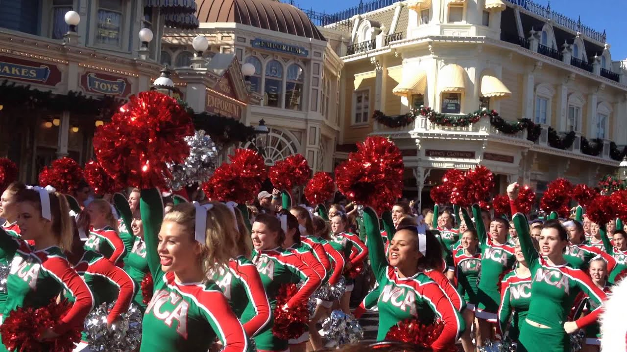 disney parks christmas day parade taping nca nda performance youtube - Disney Christmas Day Parade