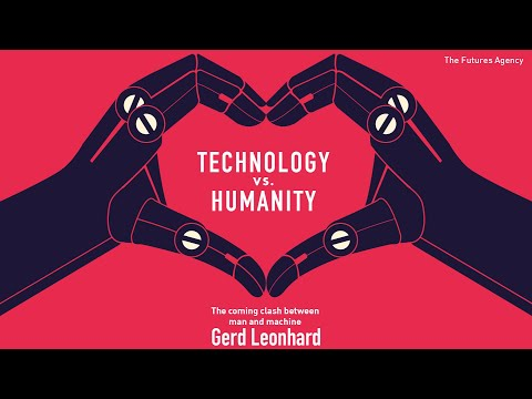 "Futurist Gerd Leonhard explains the key messages in his new book ""Technology vs Humanity"""