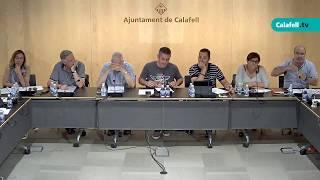 Ajuntament de Calafell: sessió plenària extraordinària, 26 de juny de 2017