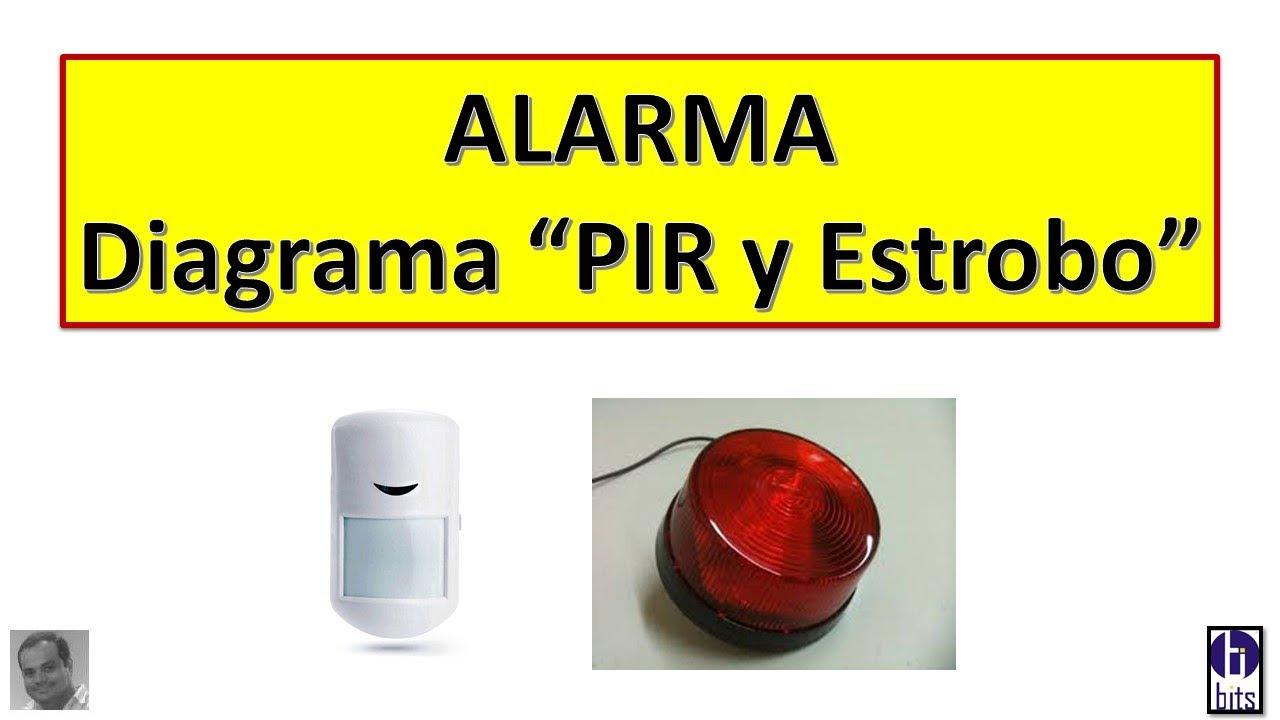 Alarma CCTV - PIR y Estrobo