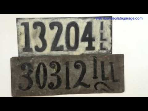 Illinois License Plate History — Pre-State License Plates — from License Plate Garage