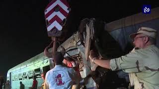 ارتفاع جديد لضحايا تصادم قطاري الاسكندرية (12-8-2017)