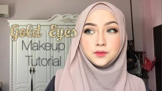 Gold Eyes Makeup Tutorial