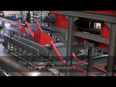 Extending waste metal conveyor