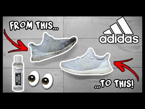 CLEANING FILTHY ADIDAS TRIPLE WHITE ULTRA BOOST TO LOOK NEW AGAIN!