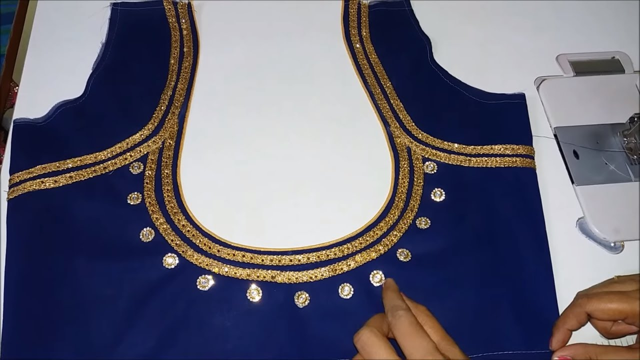 Very Beautiful Neck Design Stitching With Lace Akanksha Fashion Youtube