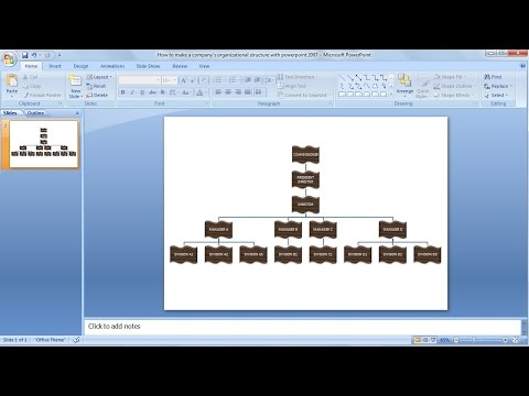 How to make organizational chart Learn powerpoint easily - YouTube