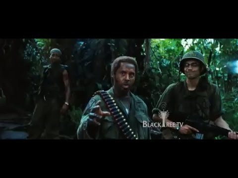 Tropic Thunder - Robert Downey Jr. plays a black guy...?