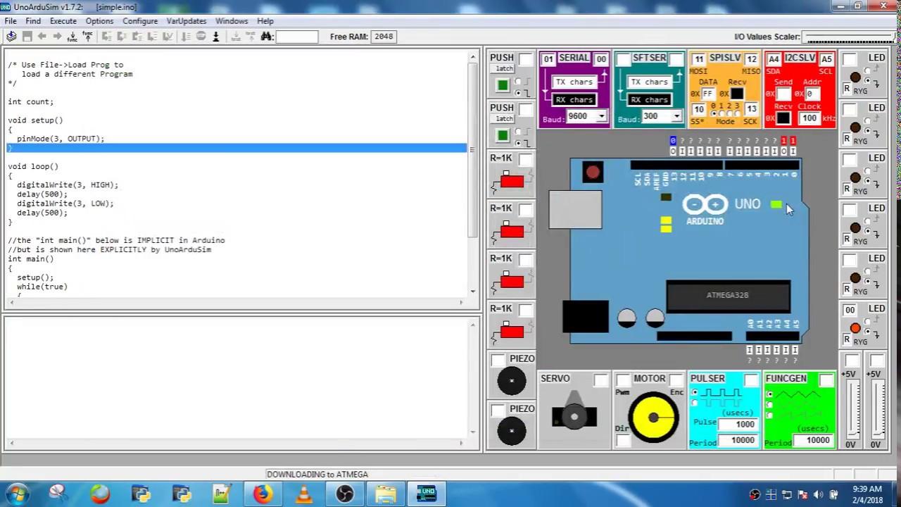 Arduino UNO Simulator
