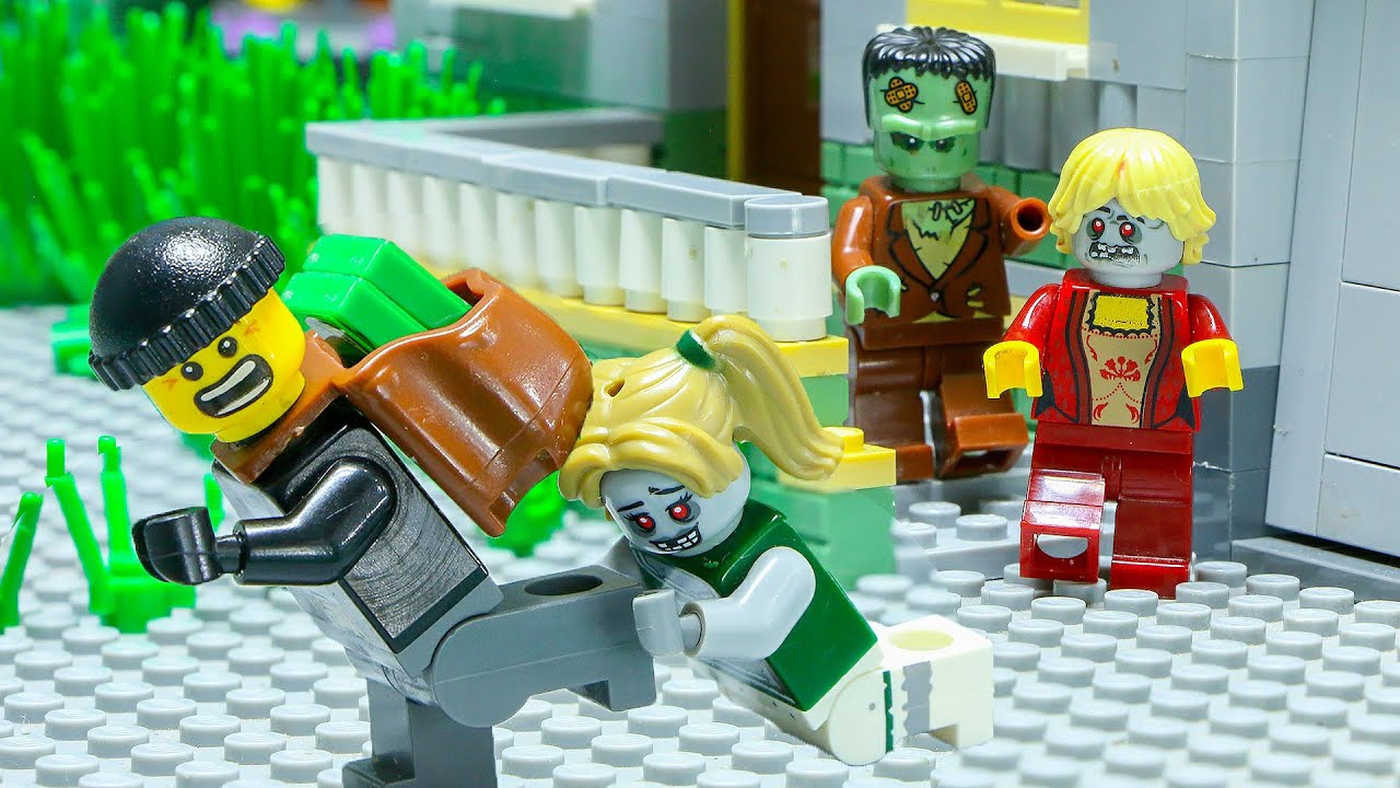 LEGO Land | Lego City Police Robbery Heist: Secret Zombie Room | Lego Stop Motion