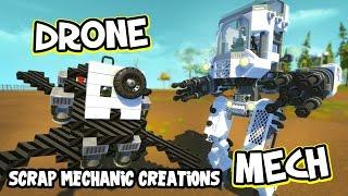 Scrap Mechanic CREATIONS! - AMAZING ROBOTS!! [#17] W/AshDubh | Gameplay |