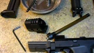 Walther P22 Disassembly w/ Compensator