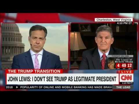 "Dem Sen. Joe Manchin Refutes Dem Rep. John Lewis Claim that Trump is ""Not a Legitimate President"""