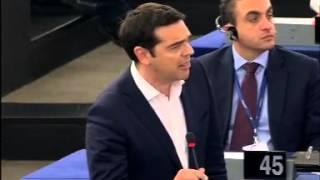 Tsipras Closing Speech at the EU Parliament Strasbourg - English