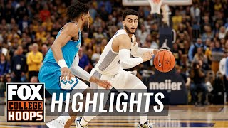 Markus Howard beats Steph Curry all-time scoring list w/Marquette win | FOX COLLEGE HOOPS HIGHLIGHTS
