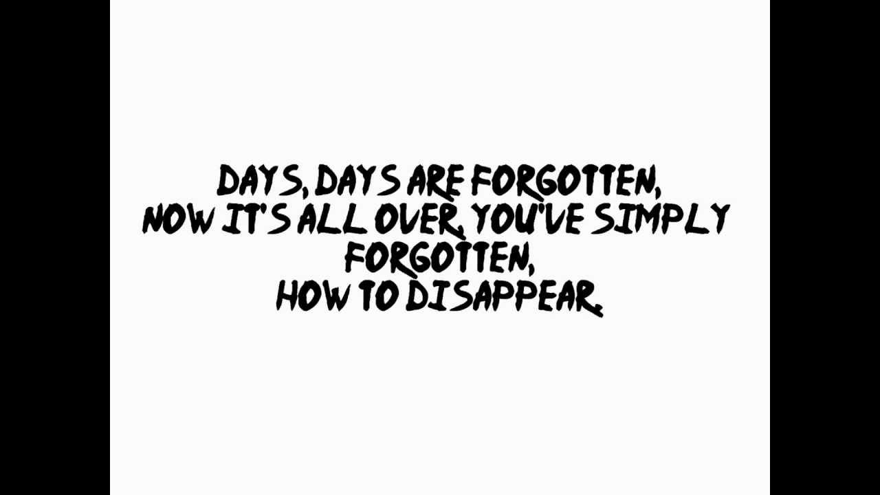 Days Are Forgotten by Kasabian Lyrics - YouTube