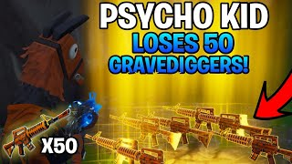 Psycho Kid verliert 50 Grave Diggers! (Scammer wird betrogen) Fortnite Save The World