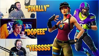 NINJA & Streamers Reacts TO *NEW* Bullseye & NFL Skins! - Fortnite Funny Moments