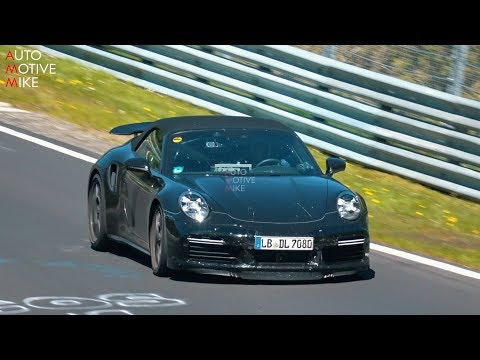 Porsche 911 Turbo S Cabrio spied tempting fate at the Nürburgring