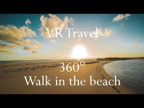 VR Travel - Virtual Reality Walk on the Beach in Mozambique