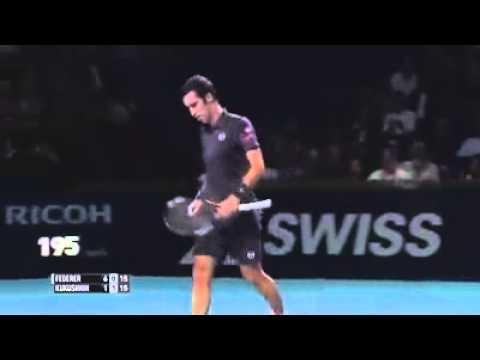 Fantastic touch of Federer
