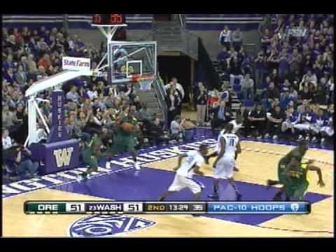 Washington Huskies vs. Oregon Ducks Basketball 2011