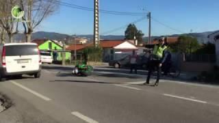 Colisão entre motociclo e automóvel provoca dois feridos em Brito