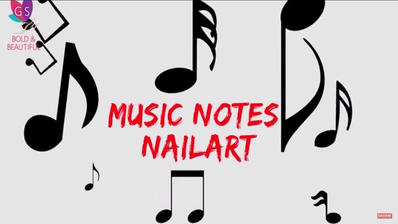 Diy Music Notes Nail Art Youtube