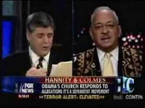 Jeremiah Wright interviewed by Hannity and Colmes show