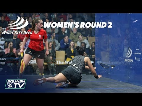Squash: Windy City Open 2018 - Women\'s Rd 2 Roundup [Pt.1]